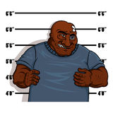 Police shot of a hardened criminal Royalty Free Stock Photography