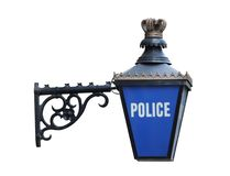 Police Sign. A Vintage Sign Depicting a Police Station Building Royalty Free Stock Photography