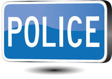 Police sign Royalty Free Stock Images