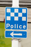 Police sign Royalty Free Stock Photo