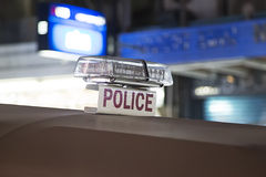 Police sign on the car in Bangkok Royalty Free Stock Photo