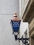 Police Sign with copper Stock Photo
