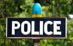 Police Sign Royalty Free Stock Photography