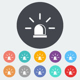 Police single icon. Police. Single flat icon on the circle. Vector illustration Royalty Free Stock Images