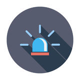 Police single icon. Police. Single flat color icon. Vector illustration Royalty Free Stock Photography