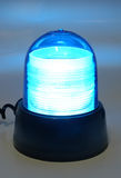 Police siren light. One magnetic shining blue police siren light stock photos