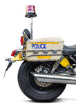 Police siren light. The red siren light on police motorcycle Royalty Free Stock Photos