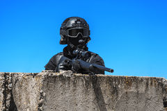 Police sniper in action Stock Photography