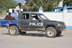 Police Somalia Royalty Free Stock Photography