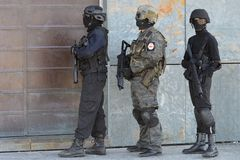 Police special forces in action Stock Photo