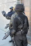 Police special forces in action. Police special forces in Spain in action royalty free stock photo