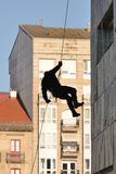 Police special forces in action. Police special forces in Spain in action stock photo