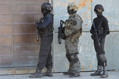 Police special forces in action. Police special forces in Spain in action stock image