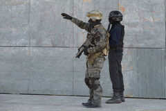 Police special forces in action Stock Photos