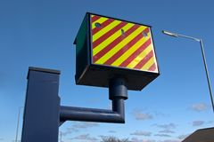 Police Speed Camera. A roadside radar speed camera Stock Photos