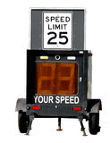 Police Speed Limit Monitor Law Enforcement Trailer stock photography