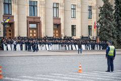 Police in the square in Kharkiv Stock Image
