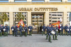 Police on standby to assist at anniversary of German Unity in Fr Royalty Free Stock Photography