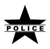 police star symbol Royalty Free Stock Photo