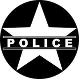 police star symbol Royalty Free Stock Image