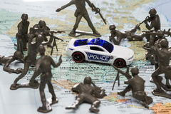 Police state in the USA Stock Photo