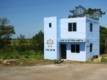 Police Station in the Countryside of Mexico Royalty Free Stock Photography