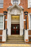 Police station entrance. Impressive entrance to a police station in North London stock images