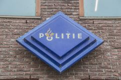 Police Station At The Linneausstraat At Amsterdam The Netherlands 2018. Police Station At The Linneausstraat At Amsterdam The Netherlands stock photo