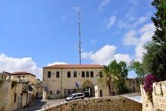 Police station in old Jerusalem. Royalty Free Stock Photo