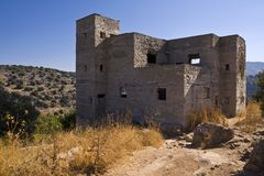 Police Station Ruins. The ruins of the old british police station, Ein Atina, at Galilee - Israel Stock Photography
