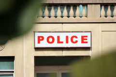 Police Station Sign Royalty Free Stock Image