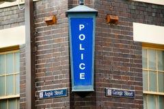 Police Station Sign. Sydney - Australia stock images