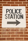 Police station sign Royalty Free Stock Photos