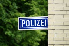 Police station. Somewhere in Germany royalty free stock photography