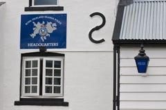 Police Station in Stanley, Falkland stock image