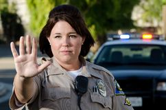 Police, Stop Royalty Free Stock Photography