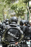 Police in the street of Tehran stock photography