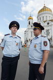 Police on the streets of Moscow Royalty Free Stock Photography