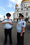 Police on the streets of Moscow Stock Photography