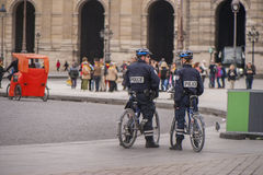 Police in the Streets Stock Image