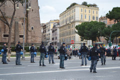 Police on the streets of Rome. Rome, Italy - February 20, 2014: Police on the streets of Rome stock image
