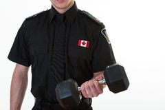 Police Student Lifting Weights Stock Images