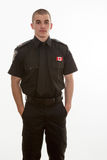 Police student standing in uniform Stock Photography