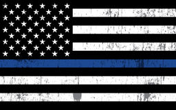Police Support Flag Illustration Stock Photo