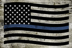Police Support Flag Royalty Free Stock Photo