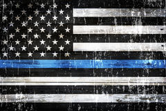 Police Support Flag Weathered Background Royalty Free Stock Photo