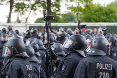 Police Surveillance in Hamburg Royalty Free Stock Photos
