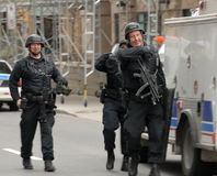 Police SWAT members Stock Photos