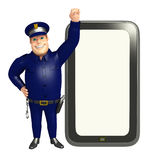 Police with Tab. 3d rendered illustration of Police with Tab Royalty Free Stock Photos
