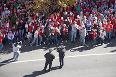 Police take picture of crowd Royalty Free Stock Photography